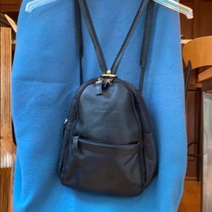 Black backpack purse